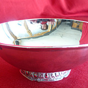 ANTIQUE FRENCH 950 sterling silver 2 handled drinking bowl-�cuelle � oreilles-193 gr.Parrot-Di
