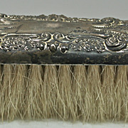 REDUCED Sterling silver art nouveau coat/ hat brush