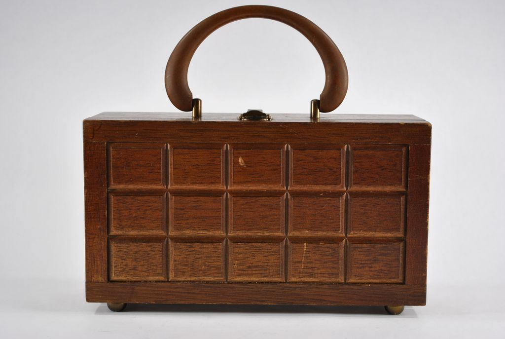 Wooden Raised Panel Purse circa 1960's - 1970's