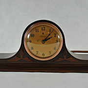 "SOLD Warren Telechron Co. ""The Trenton"" Wooden Tambour Electric Mantel Clock"