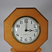 General Electric Wooden Regulator Style Wall Clock Circa 1960s