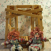 Toy Double Doll Swing from the Amana Colonies in Iowa!
