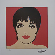 SOLD Andy WARHOL Liza MINNELLI signed numbered CMOA - Red Tag Sale Item