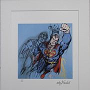 SALE Andy WARHOL print SUPERMAN 3716/5000 lithograph