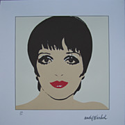 Andy WARHOL lithograph Liza Minnelli 416 / 2400 authenticated