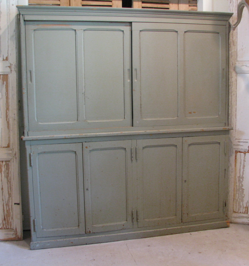 antique country french gray painted cabinet from