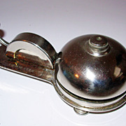 Vintage French Desk Bell or Service Bell Chrome