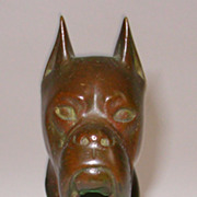 Bronze Sculpture of Boxer Dog Head