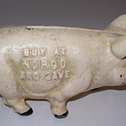 Cast Iron Advertising Pig Still Bank Norco Foundry PA