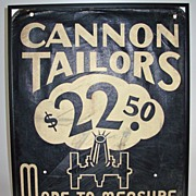 Early Sign Cannon Tailor Sandwich Board Sign