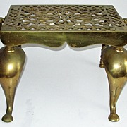 Antique 19th Century Brass Footman