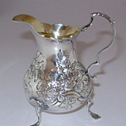Antique Sterling Silver Cream Pitcher by Woman Silver Smith Dorothy Mills London 1765-66