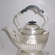 Antique English Sterling Silver Tilt Kettle Mappin & Webb Sheffield 1896-97