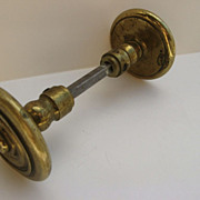 Vintage Brass Door Knob with Escutcheons