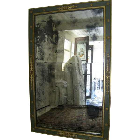 Very Large French Gilt Painted Neo Classical Mirror