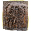 Wonderful Walnut High Relief Carving Showing the Descent of Christ from the Cross
