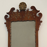 Queen Anne Style Walnut Gilt Mirror
