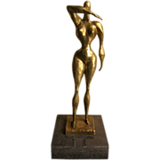 Bronze Sculpture by Doris Porter Casear Nude 1892 - 1971