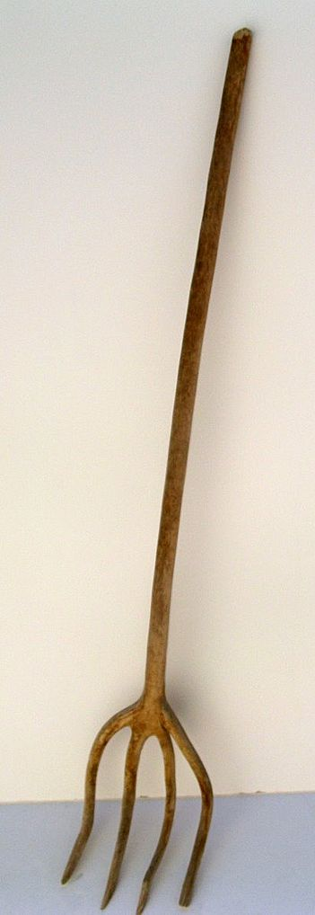 European Wooden Pitch Fork