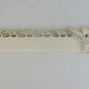 Vintage Bone Carved Letter Opener