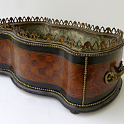 French Marquetry Planter 19th Century