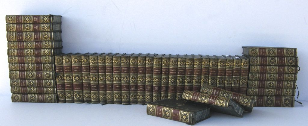 31 Volumes Scott's Novel Leather Bindings