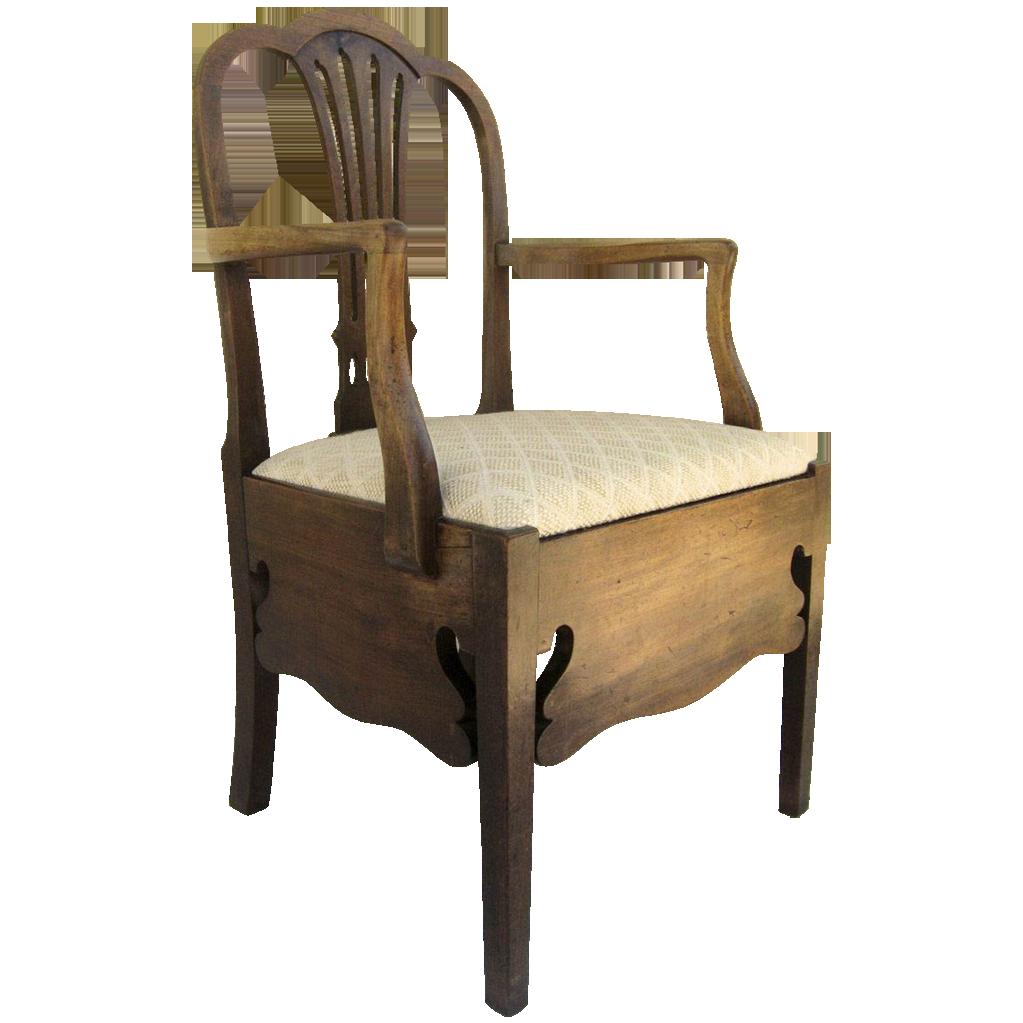 English Mahogany Hepplewhite Commode Chair From Blacktulip On Ruby Lane