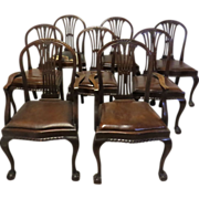 Set of 8 Hepplewhite Mahogany Dining Chairs