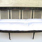 Painted Settee Baltimore Early 19th Century