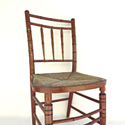 American Painted Fancy Chair Bamboo Turnings