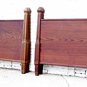 Pair of Swiss Pitch Pine Twin Beds