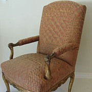 French Carved Gilt Louis XIIII Arm Chair