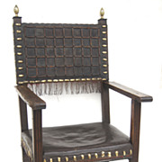 Spanish Walnut Arm Chair 19th Century