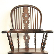English Yew Wood Windsor Chair
