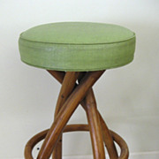 Bradston Rattan Mid Century Bar Stool