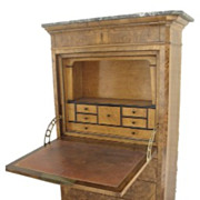 French Walnut Secretaire Abutant