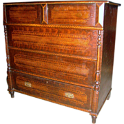 European Grain Painted Mule Chest