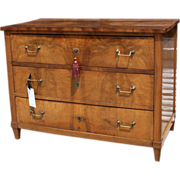 German Straight Front Birch Commode