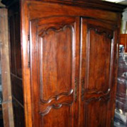 French Provincial Arched Door Armoire