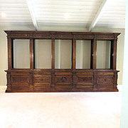 Monumental Italian Walnut Bookcase