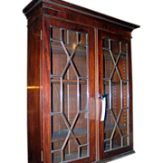 English Mahogany Hanging Cupboard