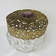 Filigree Lid Dressing Bottle Jar