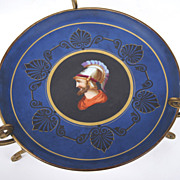 Portrait Plate with Ormolu Stand