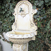 Wonderful Italian Renaissance Marble Fountain with Shell Motif