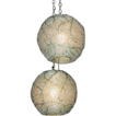 Pair of Mid Century Green Globe Hanging Lights