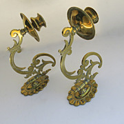 English Brass Sconces
