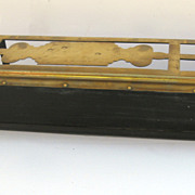 English Brass and Steel Warming Fire Fender c 1800