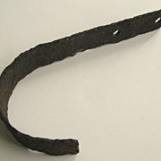 Iron Hand Made Hook with Great Patination