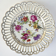 "Set of 6 Dresden Bararia Pierced 8 1/4"" Plates c 1950"