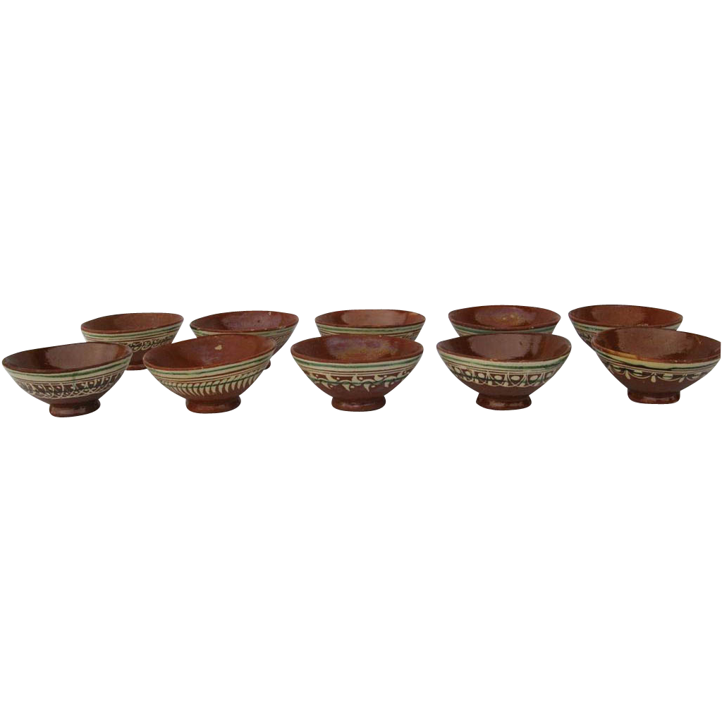 Vinage Mexican Pottery Bowls (10) Tlaquepaque